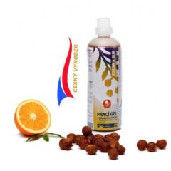 Prací gel z mýdlových ořechů s pomerančem
