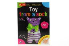 Vyrob si zvířátko z ponožky - kočka