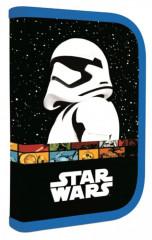 Penál 1patrový 2 chlopně Star Wars II. černo-modrý