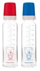 Láhev skleněná s jednobarevným potiskem 240ml Teddy Friend