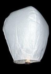 Lampion štěstí 106 x 70 cm BÍLÝ