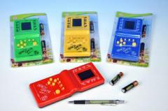 Digitální hra Brick Game Tetris hlavolam plast 19cm na baterie
