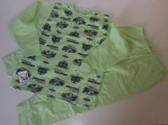 Bavlněné pyžamo auta zelené vel. 116