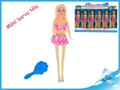 Panenka kloubová 29cm plážová měnící barvu vlasů s doplňky