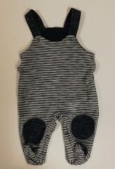 Polodupačky s laclem pruh. modrá Baby Service