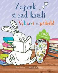 Kniha Zajíček si rád kreslí – vybarvi si příběh!