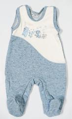 Teplejší dupačky melírek modré Baby Service