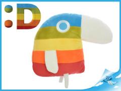 Papoušek Duháček plyšový 20x25cm menší 0m+