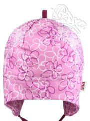 Funkční letní čepička zavazovací růžové květy Coolmax RDX