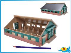 Farma dřevěná 21,2x30x11,2cm 1:87