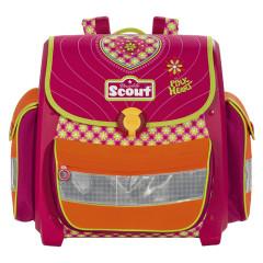 Školní aktovka Scout - Růžové srdíčko II.
