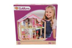 Dřevěný domeček pro panenky s příslušenstvím