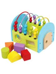 Dřevěný edukační domeček Baby Mix