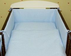 Ochranný límec mantinel modrá kostka (100% bavlna + molitan)