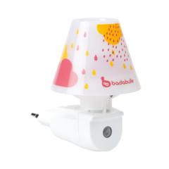 Badabulle automatické noční světlo Pink Drops