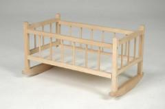 Kolébka pro panenky dřevěná velká 49 x 28cm