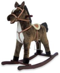Houpací koník BABY MIX tm. hnědý