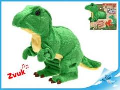 Tyranosaurus Rex plyšový 18cm na baterie se zvukem chodící 12m+