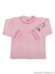 Kojenecký kabátek Bobas Fashion Benjamin růžový