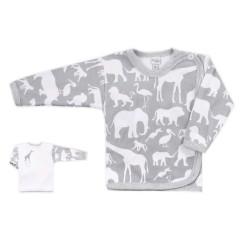 Kojenecká košilka Bobas Fashion Africa šedá