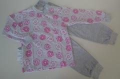 Bavlněné pyžamo donuts růžovo-šedé vel. 92