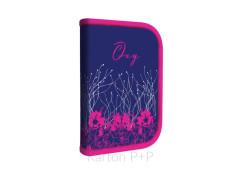 Penál 1patrový 2 chlopně Oxy Pink Flowers