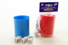 Kostky hrací s kelímkem