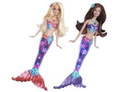 Mattel Barbie svítící mořská panna V7046