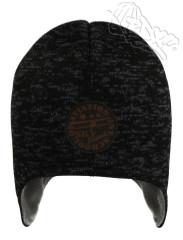Zimní chlapecká čepice na uši s letadlem šedo-černá RDX