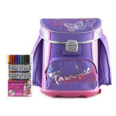 Školní aktovka Cool Bambi set - fialový + fixy