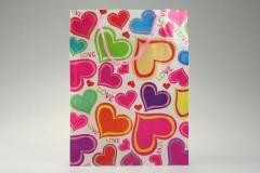 Dárková taška srdce 23 x 30 cm