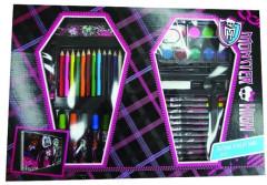 Kufřík set - kreslící dárkový set 68ks Monster High