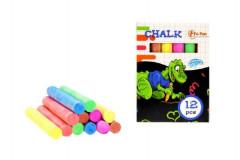 Křídy barevné 12ks v krabičce 12ks v boxu