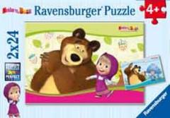 Puzzle Máša a Medvěd 2x24dílků
