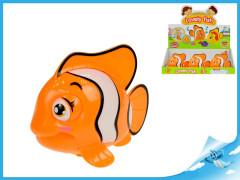 Ryba klaun 10cm plavací ve vodě na klíček