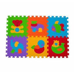 Pěnové puzzle BabyOno 30 x 30 cm 6ks ZVÍŘATA