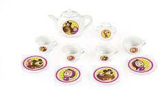 Kávový porcelánový servis Máša a medvěd