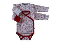 Bavlněné body dl. rukáv s rukavičkami Srdíčka Baby Service