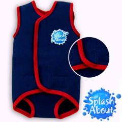 Baby neoprén-kombi - modročervená
