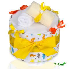 Plenkový dort velký T-tomi, žlutá žirafa
