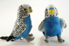 Plyš Andulka bílo-modrá
