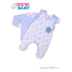 2-dílná kojenecká souprava New Baby Roztomilý medvídek MODRÁ vel.62