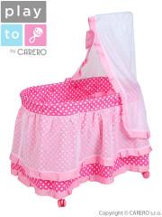 Košík pro panenky PlayTo Nikolka světle růžový