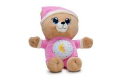 Medvídek Usínáček růžový se světlem a zvukem 12m+