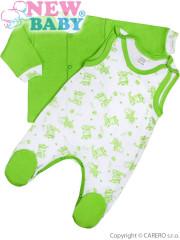 2-dílná kojenecká souprava New Baby Zebrababy II zelená Vel 74