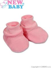 Dětské bačkůrky New Baby růžové vel. 62
