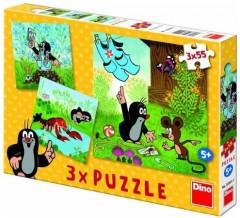 Puzzle Krtek a kalhotky 3 x 55 dílků
