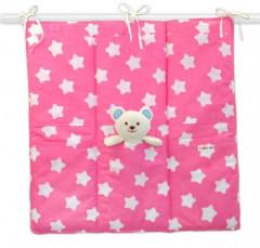 Kapsář k postýlce 55 x 60 cm Baby Nellys Sweet stars růžové