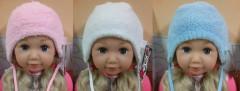 Zimní kojenecká zavazovací čepice pro novorozence vel. 00 (35-37cm)