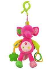 Plyšová hračka s vibrací Baby Mix - slůně